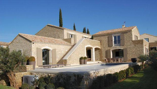 Villa di lusso in pietra con piscina in francia casa - Agenzie immobiliari francia ...