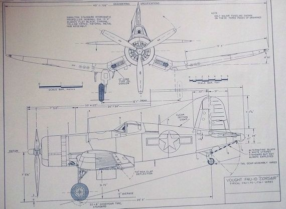 Ww ii vought corsair fighter blueprint nursery ideas pinterest ww ii vought corsair fighter blueprint malvernweather Images