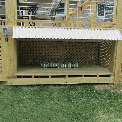 Under Deck Doghouse House Decks Backyard Patio Deck Designs