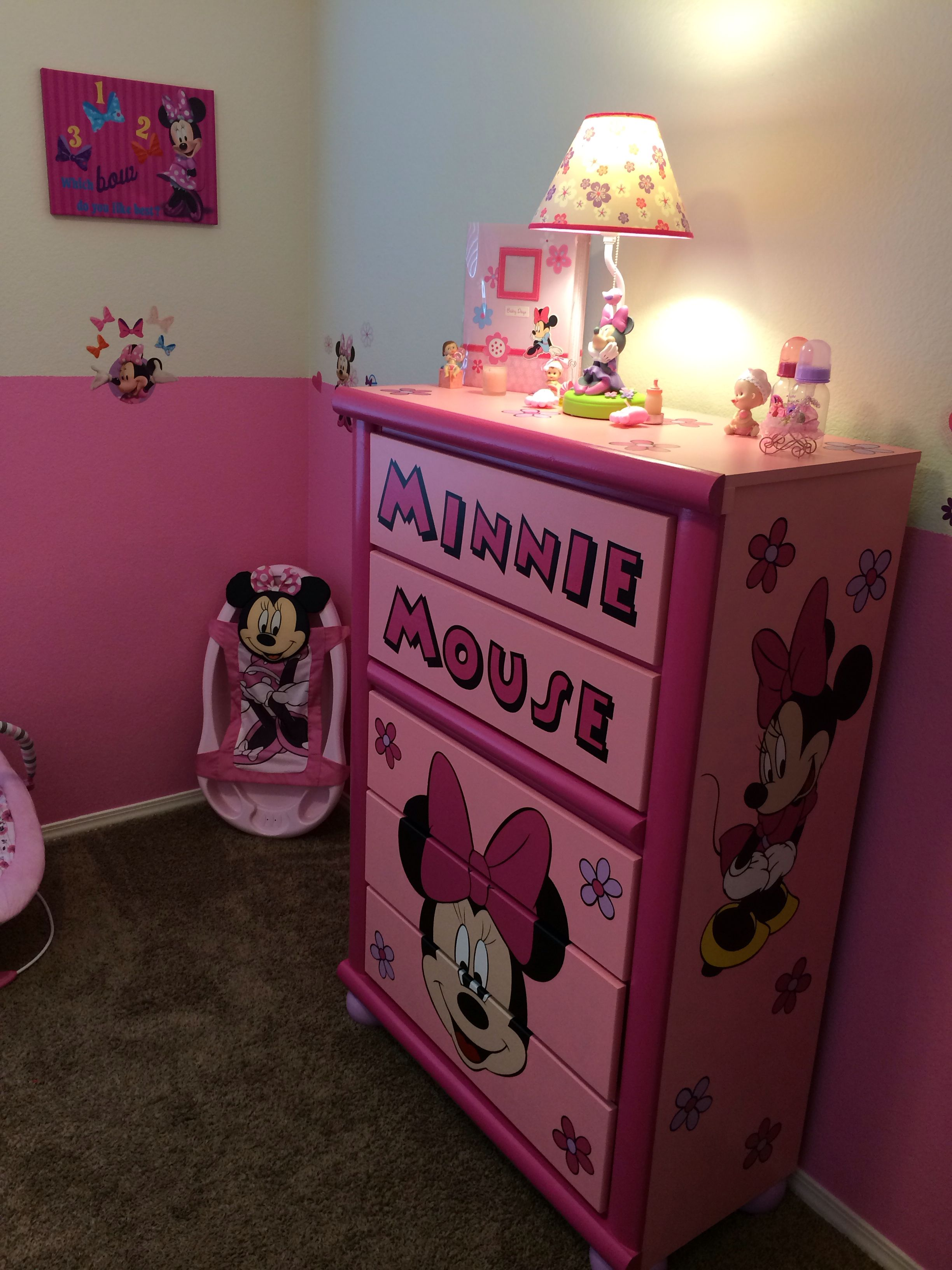 Custom Minnie Mouse Dresser Minnie Mouse Nursery Minnie Mouse