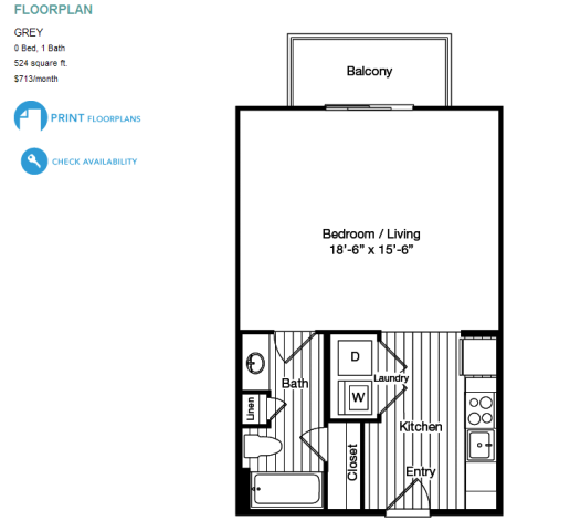 Efficiency apartment rent efficiency apartment floor plans for Economy apartment plans