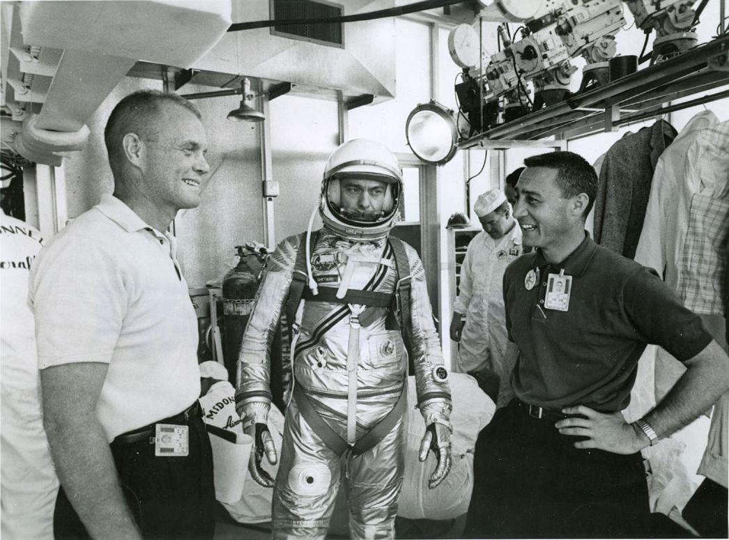 mercury 7 astronauts walking -#main