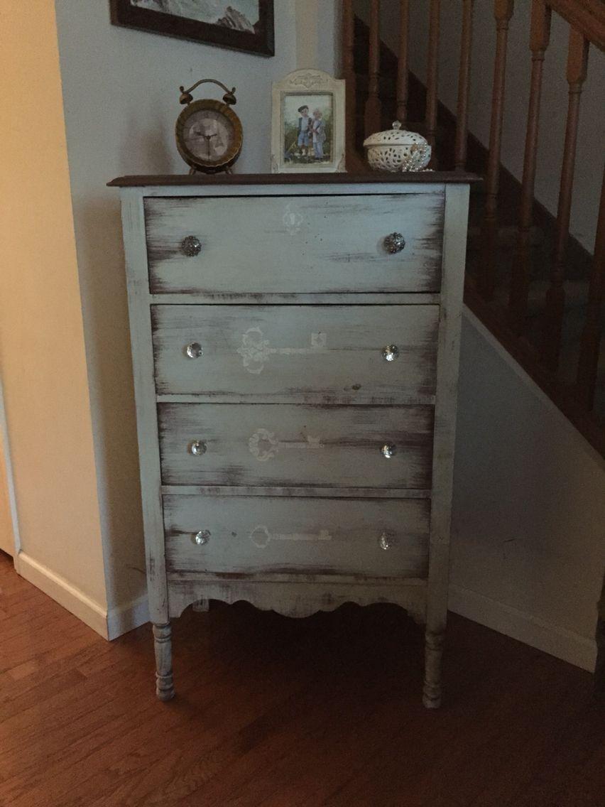 Lock And Key Stenciled Dresser With Chalk Paint Stencil Dresser