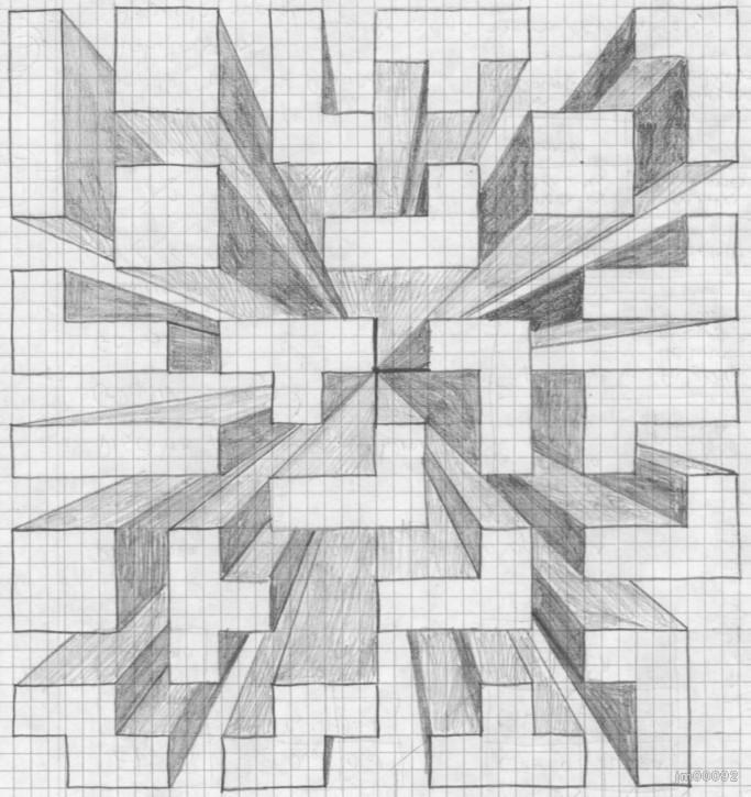 Luces Y Sombras Edificios Dibujados Buscar Con Google Tegneundervisning 3d Tegninger Perspektiv Tegning