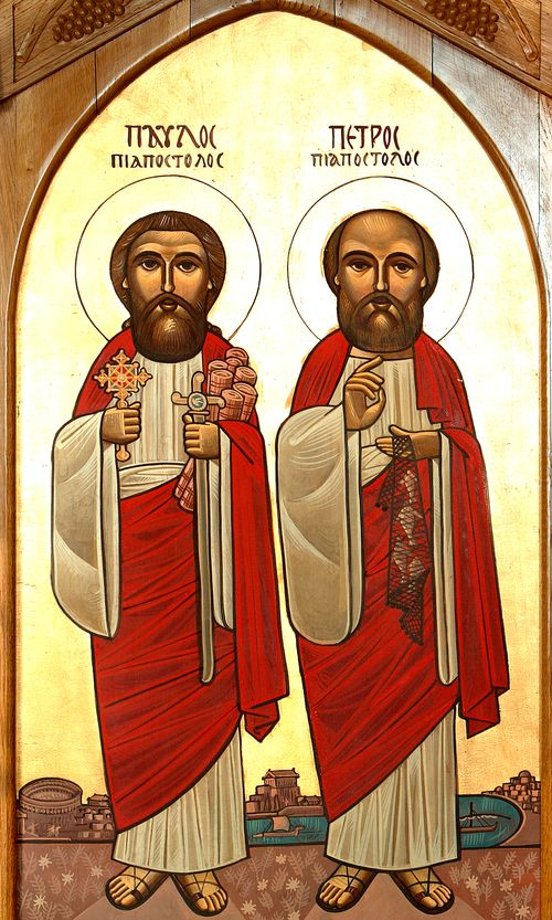 Icon by Isaac Fanous, St Peter and St Pauls Coptic