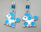 Little snowman earrings Swarovski pearl and crystal por Mindielee