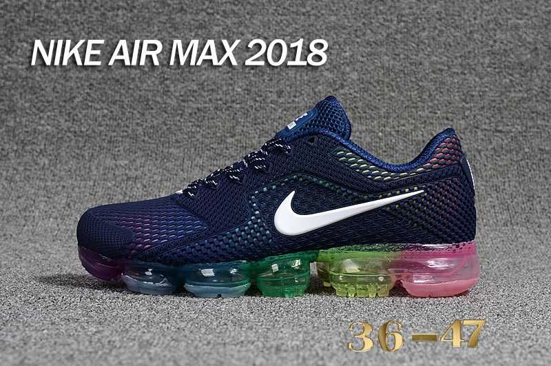 74eafd3734 Nike Air Vapormax 2018 5.0 KPU Navy Blue Rainbow Women Men | Nike ...
