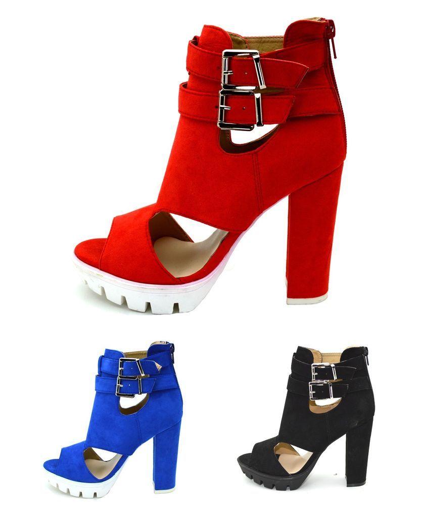 aca5372444b3 Scarpe donna tronchetti spuntati sandali estivi con tacco alto comodo e  fibbie