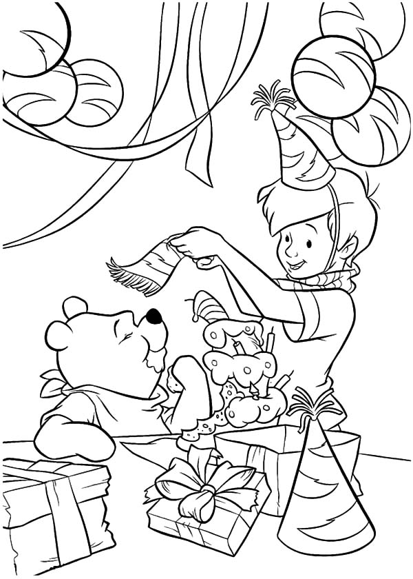 Winnie the Pooh Birthday Party Coloring Pages - NetArt ...