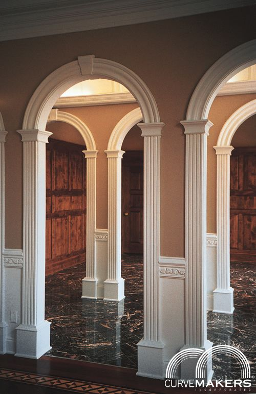 Model j solid wood arch kit curvemakers inc for Decorative archway mouldings