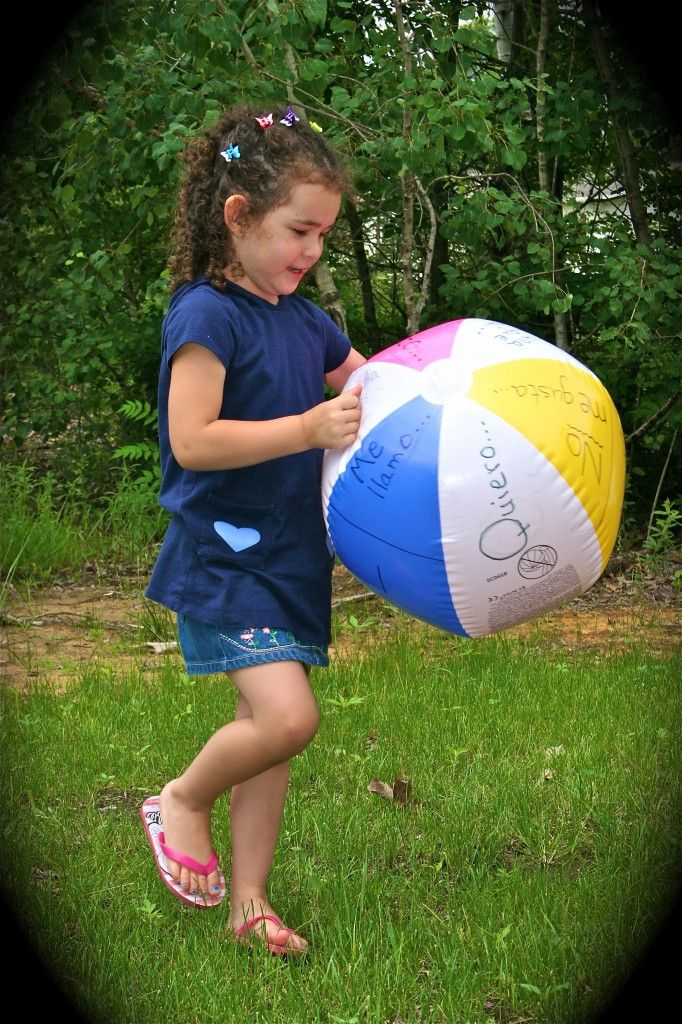 7 Spanish Beach Ball Games For Kids With Images Spanish Kids