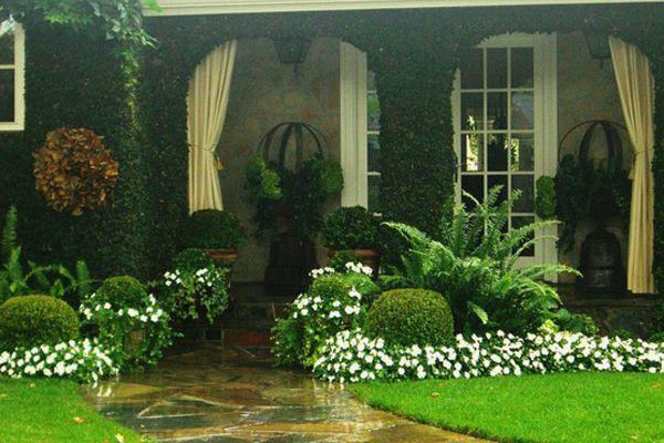 Rumah Semakin Hidup Dengan Dikelilingi Kehijauan Dan Warna Warni Bunga Taman Front Yard Garden Design Front Garden Design Front Yard Landscaping Design