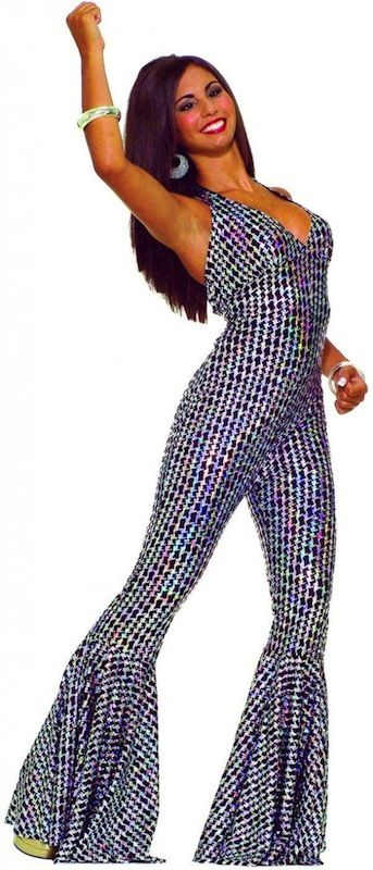 2a06bb475549 Boogie Dancing Babe Disco Fever 70s Jumpsuit Women Costume M L ...