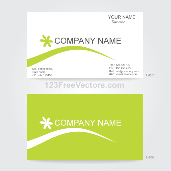 Business Card Template Illustrator Business Card Templates - Front and back business card template