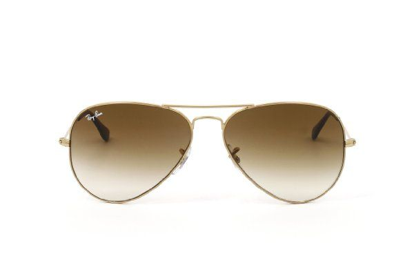 RAY BAN AVIATOR Sonnenbrille/Sunglasses - Gelb/Braun RB3025 001/51 (58mm) X5Y5YJ
