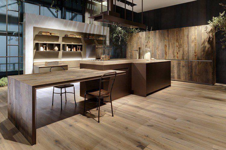 50+ Couleur mur cuisine avec meuble bois fonce inspirations