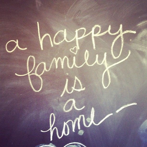 """""""A Happy Family Is A Home"""" I've Been Very Lucky"""