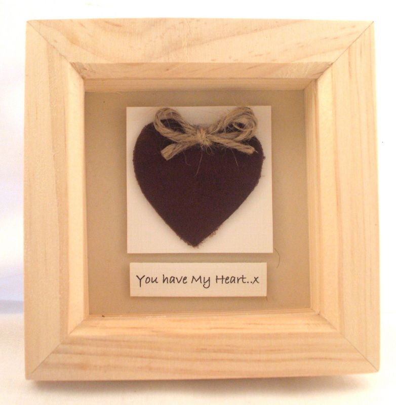 Wedding Anniversary Leather Gifts: 3rd Anniversary Leather Heartbox,