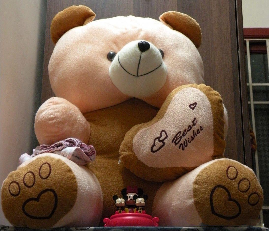 Big Teddy Bear N Small Mickey Mouse Hd Wallpaper Teddy Bear