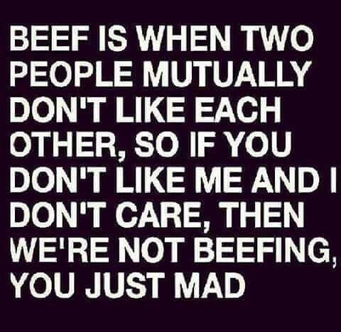 No Beef! ✌