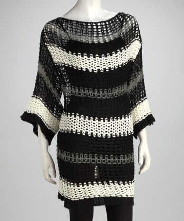 Take a look at this Black Loose-Knit Tunic - Women by Wear With Flair: Women's Apparel on #zulily today!