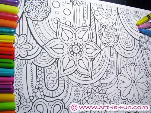 Detailed Abstract Coloring Pages By Thaneeya McArdle