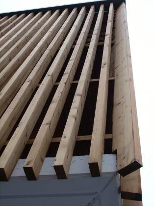 bardage r tifi bois thermotrait par r tification parquet facade walls pinterest. Black Bedroom Furniture Sets. Home Design Ideas