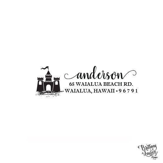 Castle Princess Rubber Stamps Business Logo Stamps Wedding Stamp Logo Stamp Invitation or Save The Date Rubber Cling Stamp
