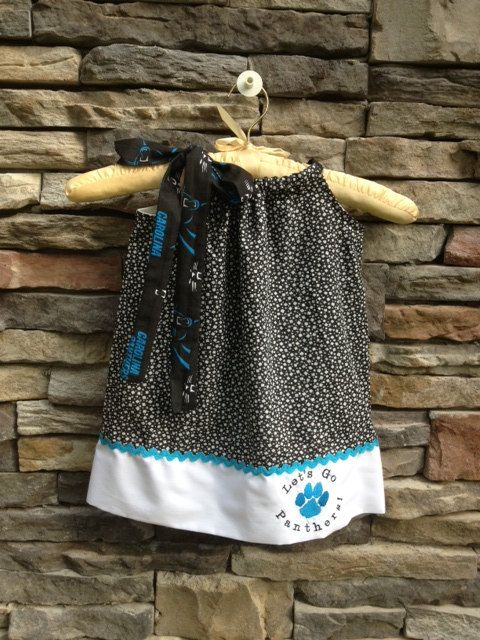 Carolina Panthers Pillowcase Dress  Sizes by WindowOnTheWorld, $30.00