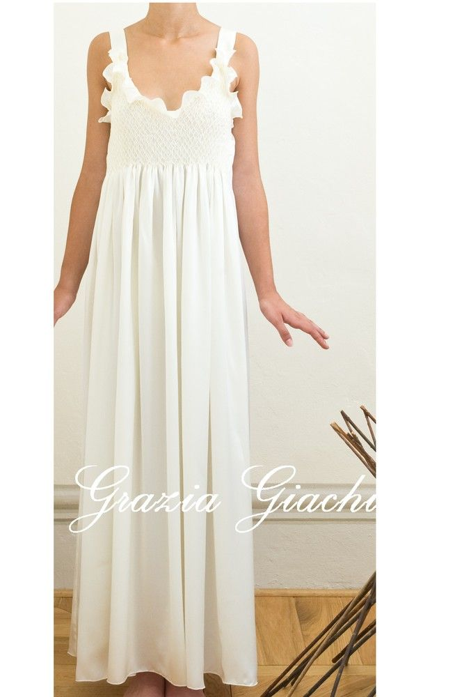 Long White Cotton Nightgown  86fe6373ac04