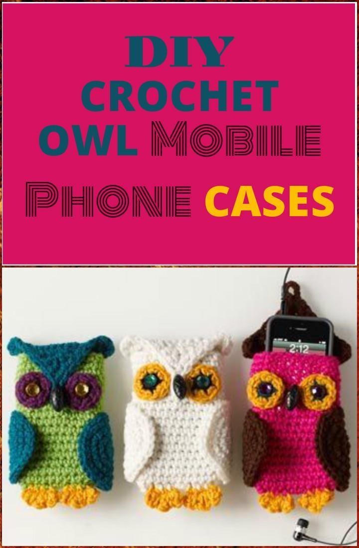 50 Free Crochet Phone Case Patterns | Crochet phone cases, Owl ...