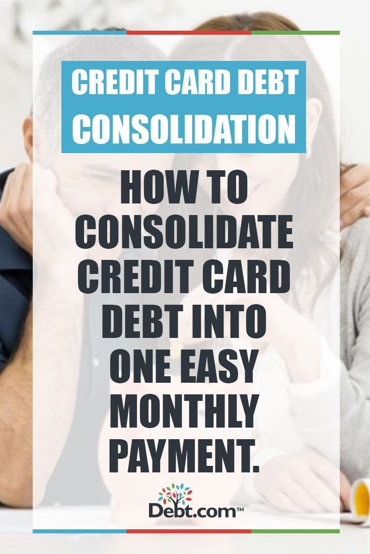 Consolidating credit card payments