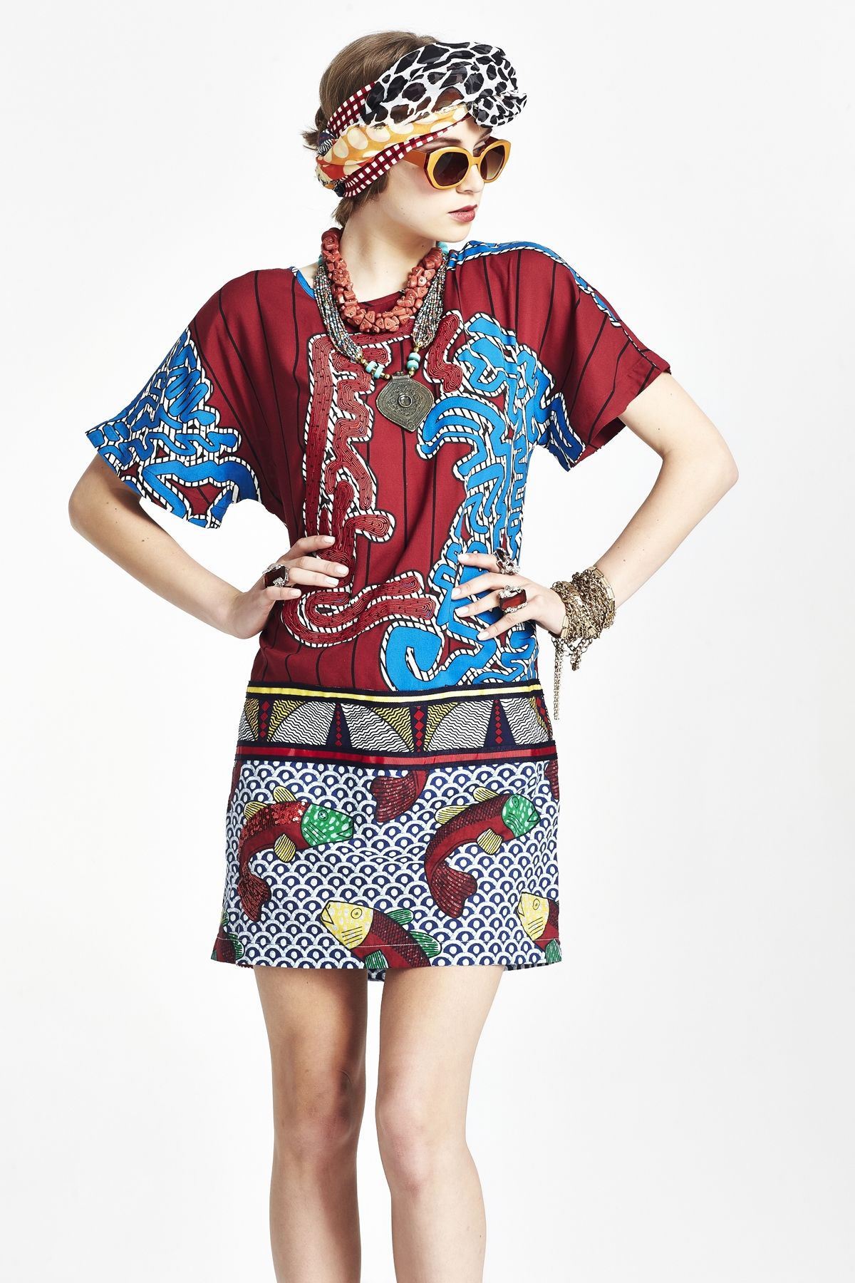 TUG OF WAR DRESS - ROPE AND FAITH COOPER SUMMER 15 : Cooper-Sale