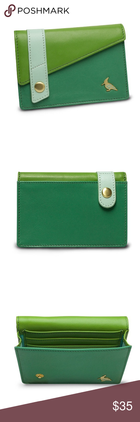 sparrow small business card holder wallet meadow Boutique | Green ...