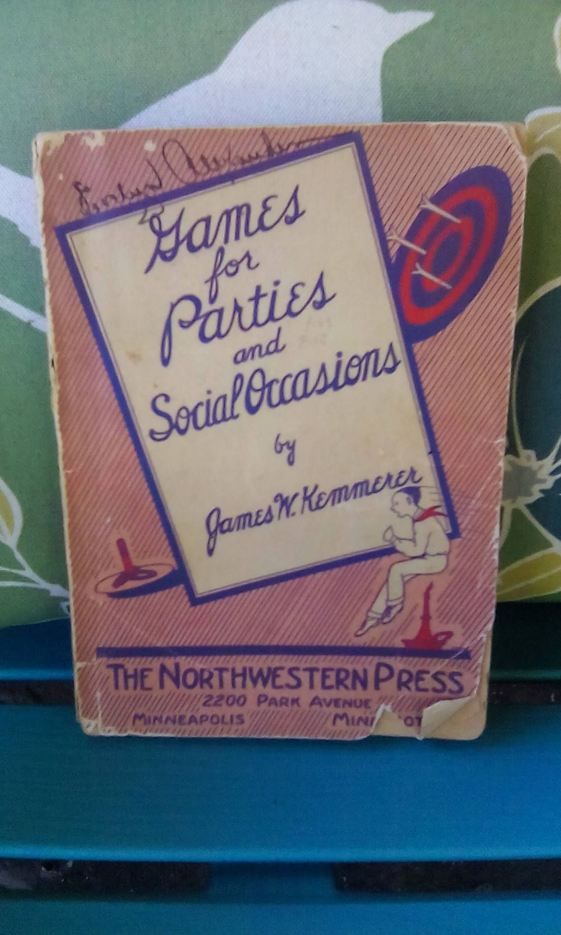 Vintage 1939 Paperback Games For Parties And Social
