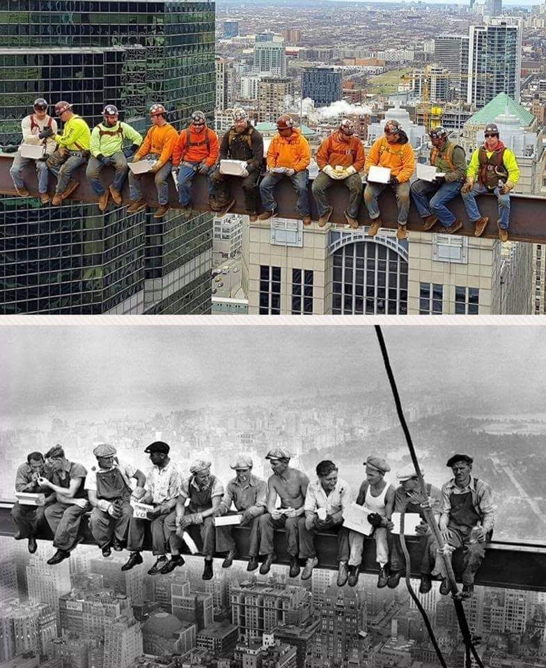 Chicago Local 1 Iron Workers Remake The Iconic Quot Lunch