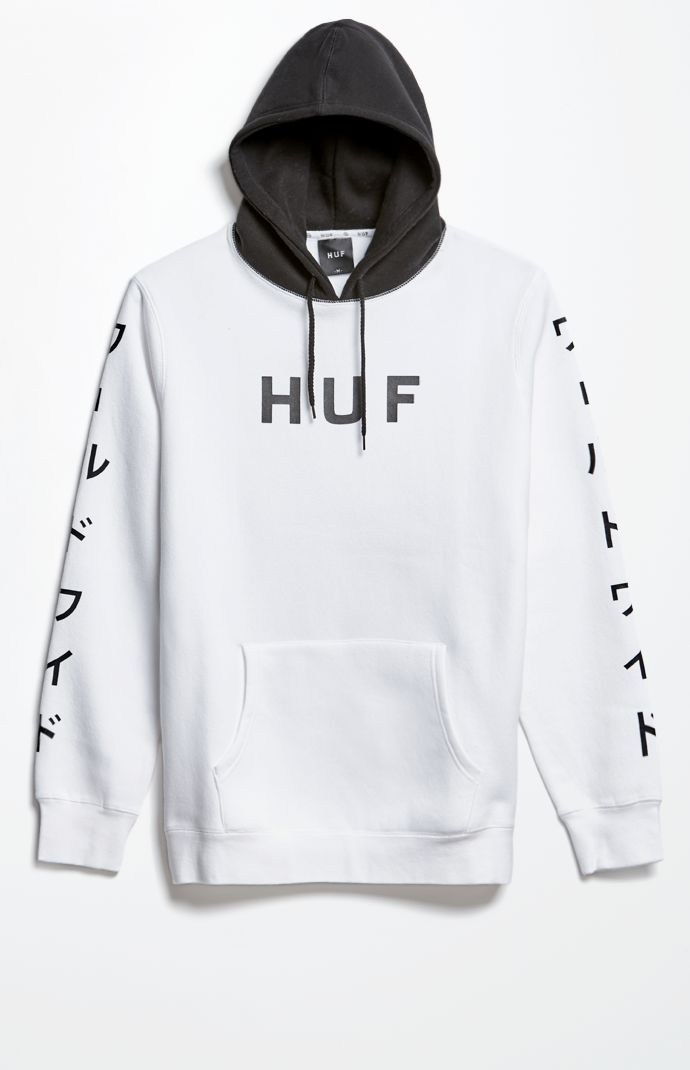 White Pack World Pullover Hoodie
