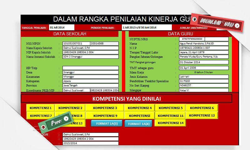 File Pendidikan Aplikasi Pkg Otomatis Menggunakan Ms Excel Terbaru Memudahkan Asesor Dalam Rangka Penilaian Kinerja Guru Pendidikan Guru Penilaian