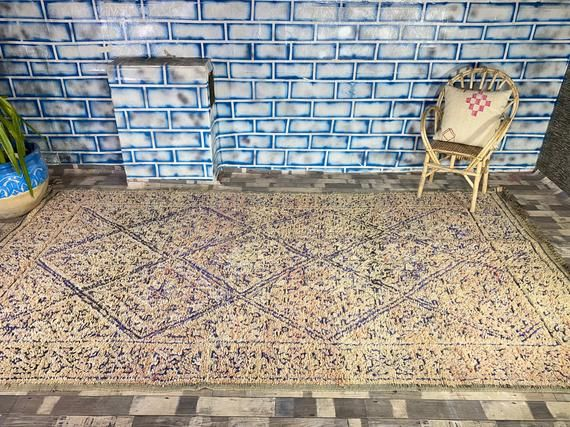 Morocco Vintage Rug Home living Home decor Antique rug Boujad Area carpet 6 6X12 2 FT