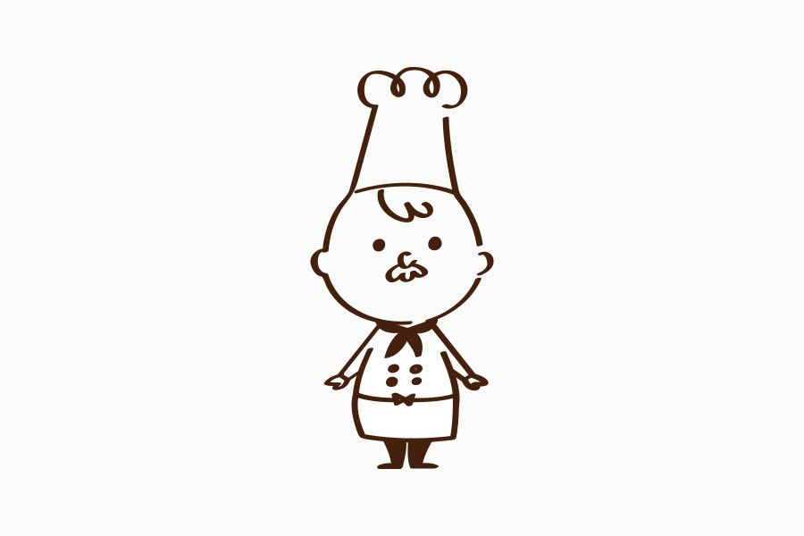 様々なバリエーションで活躍するコックさんのキャラクター