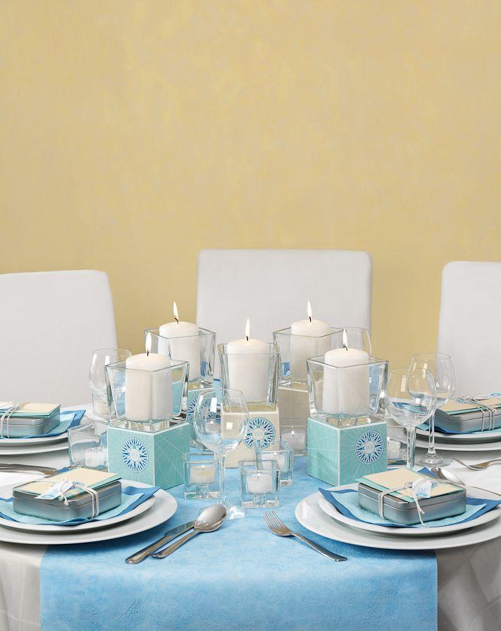 Tischdekoration: Reise ins Glück - Hochzeisfest, Tischdekoration, Tischdeko, Blumen