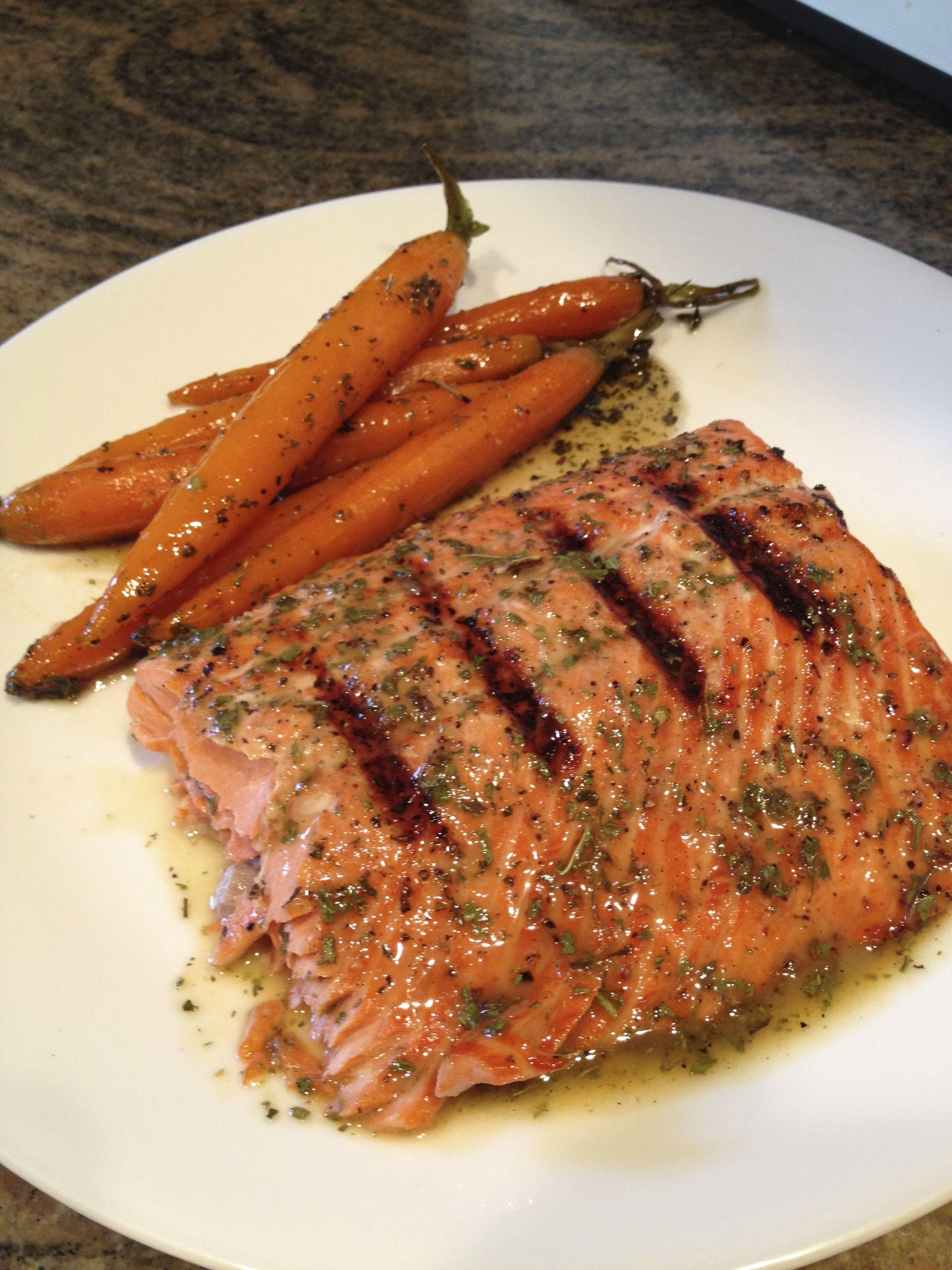 Grilled Amp Glazed Wild Copper River Sockeye Salmon Keviniscooking Com Sockeye Salmon Recipes