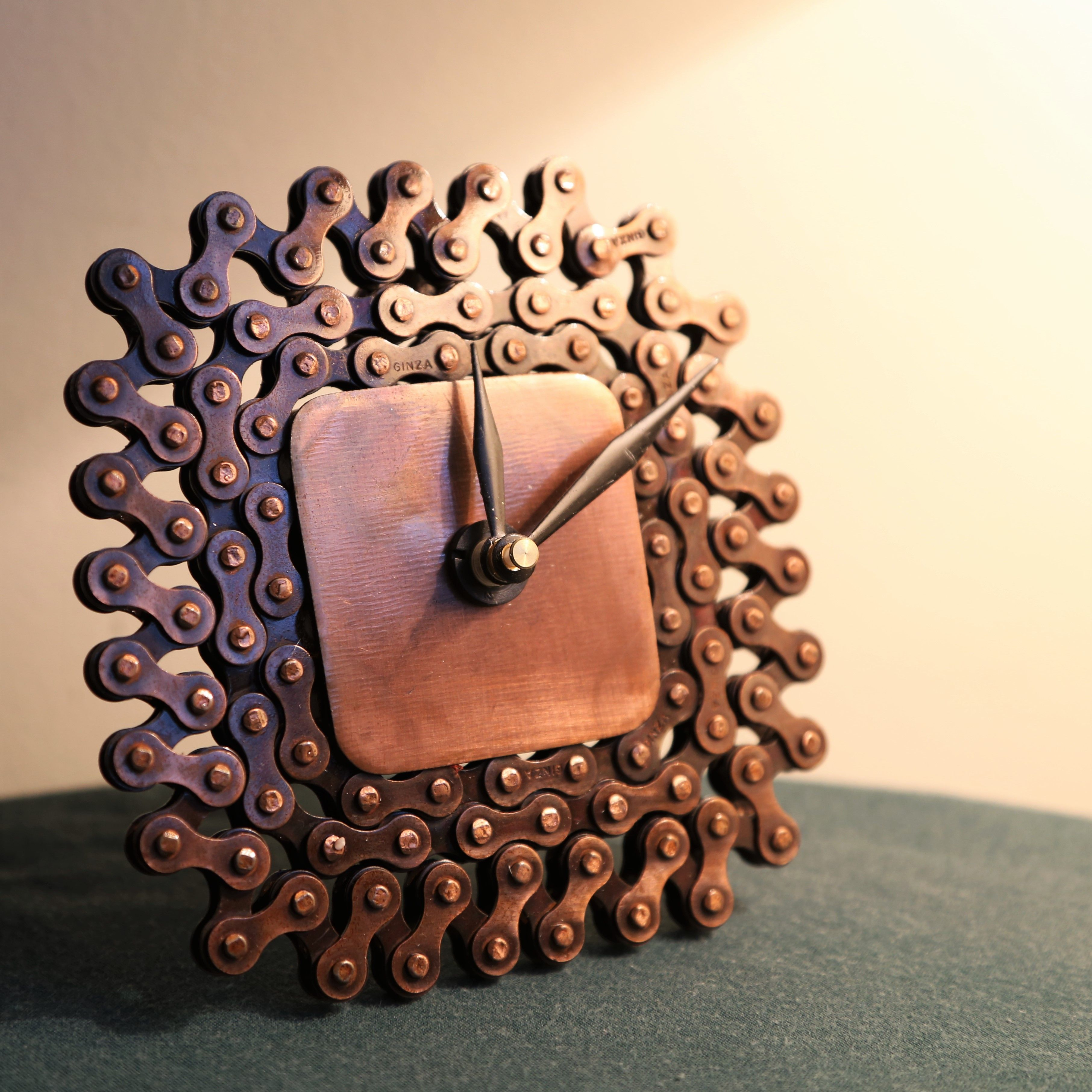 ~ Bike Chain Clock ~ For the mechanical dad ~ Fair Trade + Handmade