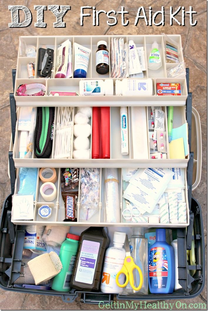 Diy First Aid Kit Diy First Aid Kit First Aid Kit Checklist Camping First Aid Kit