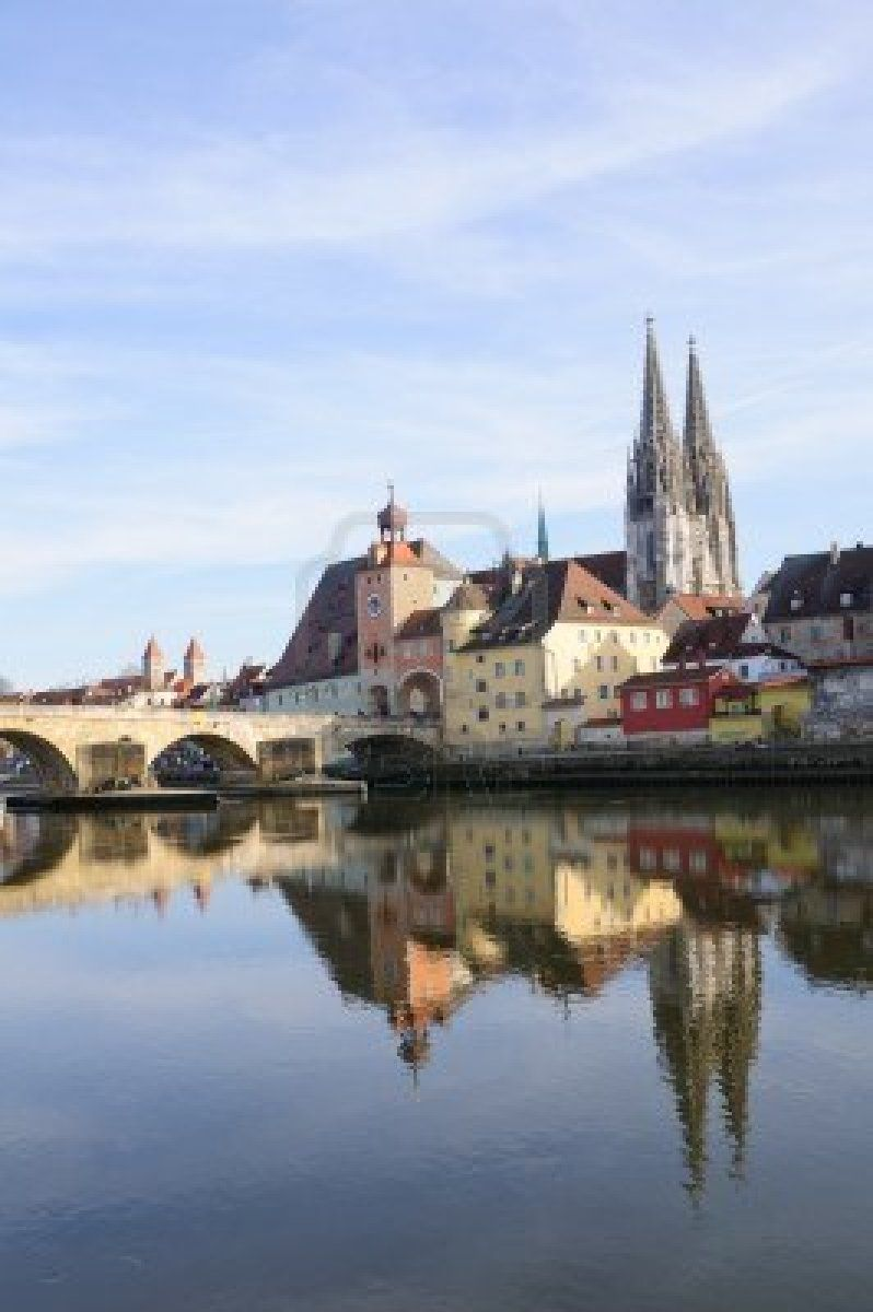 Altstadt von Regensburg, Deutschland... Regensburg was the largest city in Germany that I visited on my fall 2012 trip (not counting Nuremberg, which we really just went in and out of). Regensburg is also in Bavaria -- I thought it was a great city filled with lots of interesting history!
