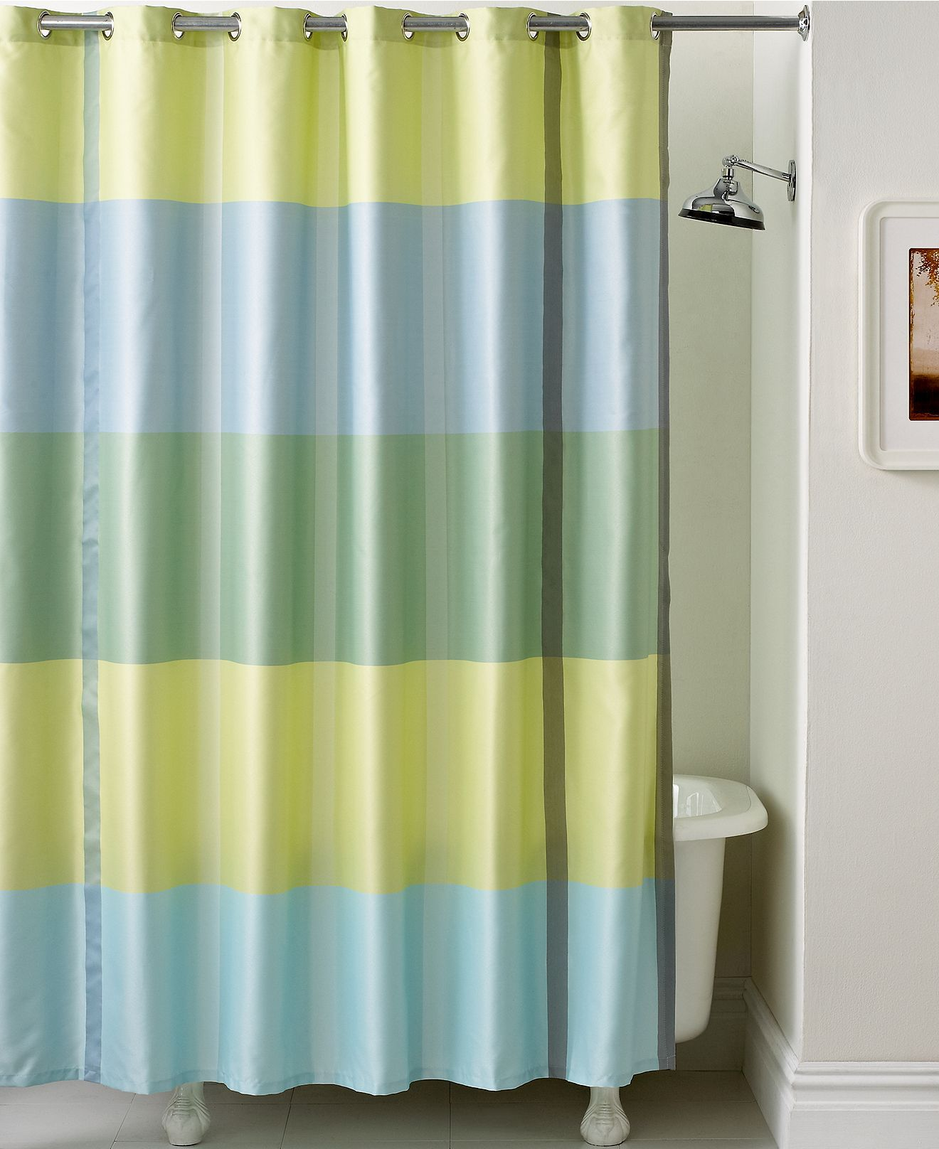 Martha Stewart Collection Bath Accessories, Encore Stripe Shower Curtain    Shower Curtains U0026 Accessories