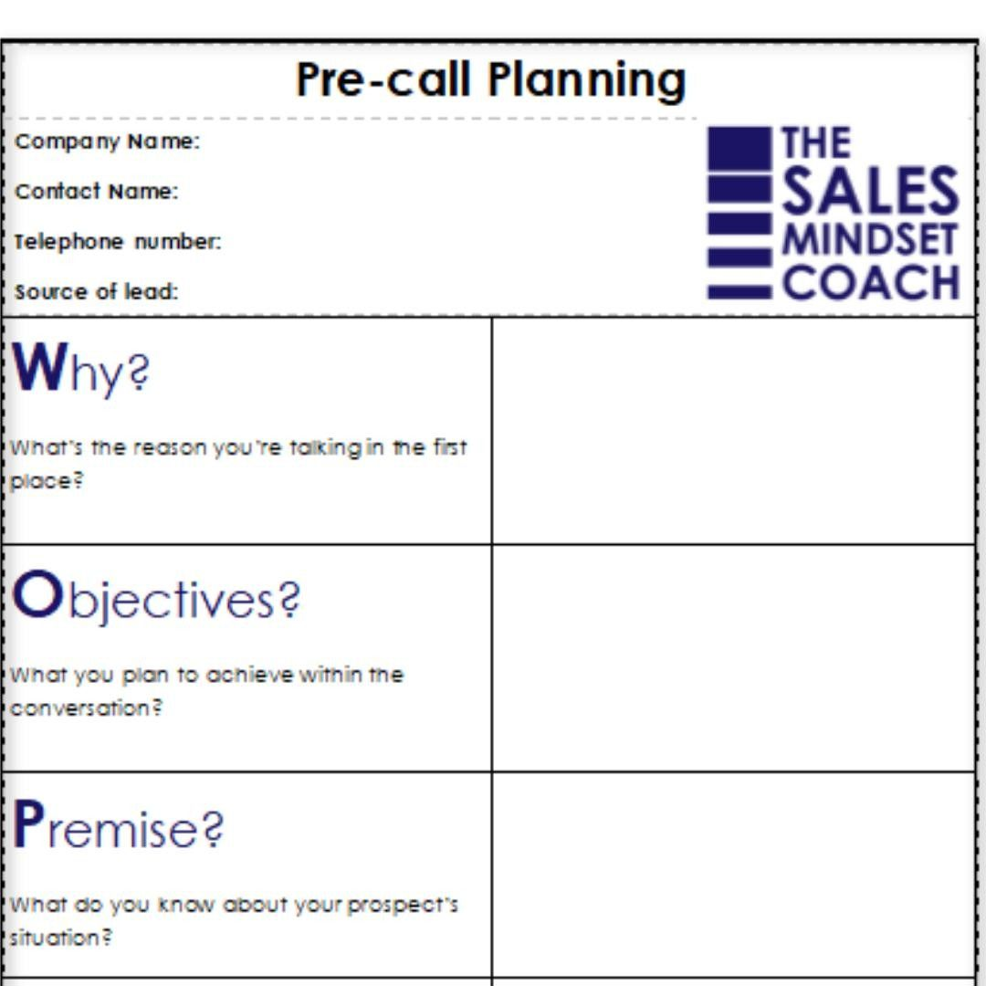 Woppa Pre Call Planning Isn T A Script It S A Structured Approach