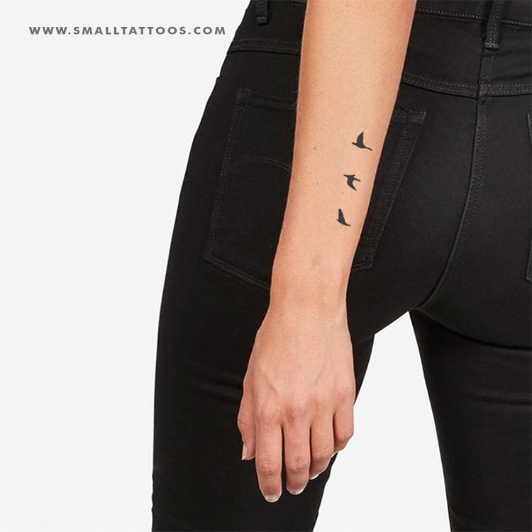 Flying Birds Temporary Tattoo (Set of 3)
