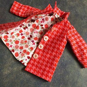 Doll Dressmaking Series: The Reversible Dress #dolldresspatterns