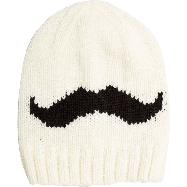 cc1eb268988 Mustache Beanie ( 17) ❤ liked on Polyvore featuring accessories ...